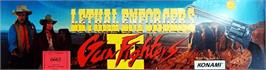 Arcade Cabinet Marquee for Lethal Enforcers II: The Western.