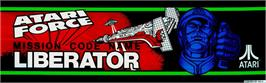 Arcade Cabinet Marquee for Liberator.