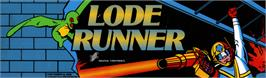 Arcade Cabinet Marquee for Lode Runner.