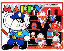 Arcade Cabinet Marquee for Mappy.