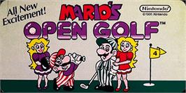 Arcade Cabinet Marquee for Mario's Open Golf.