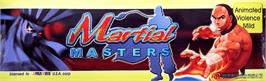 Arcade Cabinet Marquee for Martial Masters.