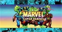 Arcade Cabinet Marquee for Marvel Super Heroes.