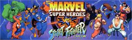 Arcade Cabinet Marquee for Marvel Super Heroes Vs. Street Fighter.