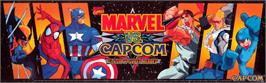 Arcade Cabinet Marquee for Marvel Vs. Capcom: Clash of Super Heroes.