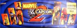 Arcade Cabinet Marquee for Marvel Vs. Capcom 2 New Age of Heroes.