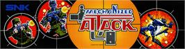 Arcade Cabinet Marquee for Mechanized Attack.