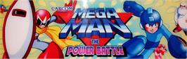 Arcade Cabinet Marquee for Mega Man: The Power Battle.