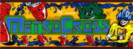 Arcade Cabinet Marquee for Metro-Cross.