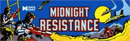 Arcade Cabinet Marquee for Midnight Resistance.