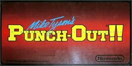 Arcade Cabinet Marquee for Mike Tyson's Punch-Out!!.