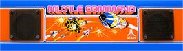 Arcade Cabinet Marquee for Missile Command.