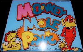 Arcade Cabinet Marquee for Monkey Mole Panic.