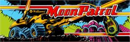 Arcade Cabinet Marquee for Moon Patrol.