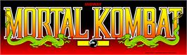 Arcade Cabinet Marquee for Mortal Kombat.