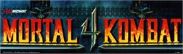Arcade Cabinet Marquee for Mortal Kombat 4.