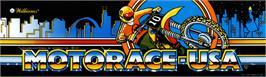 Arcade Cabinet Marquee for MotoRace USA.
