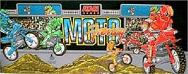 Arcade Cabinet Marquee for Moto Frenzy.