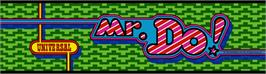 Arcade Cabinet Marquee for Mr. Do!.