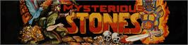 Arcade Cabinet Marquee for Mysterious Stones - Dr. Kick in Adventure.