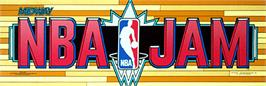 Arcade Cabinet Marquee for NBA Jam.