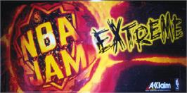 Arcade Cabinet Marquee for NBA Jam Extreme.