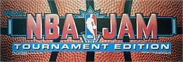 Arcade Cabinet Marquee for NBA Jam TE.
