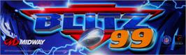 Arcade Cabinet Marquee for NFL Blitz '99.