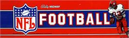 Arcade Cabinet Marquee for NFL Football.