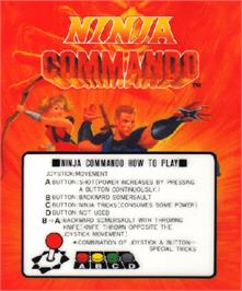 Arcade Cabinet Marquee for Ninja Commando.