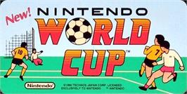 Arcade Cabinet Marquee for Nintendo World Cup.