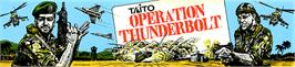 Arcade Cabinet Marquee for Operation Thunderbolt.