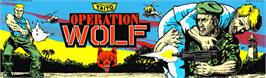 Arcade Cabinet Marquee for Operation Wolf.