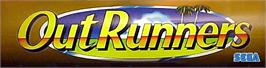 Arcade Cabinet Marquee for OutRunners.
