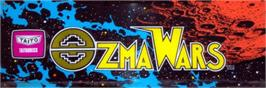 Arcade Cabinet Marquee for Ozma Wars.