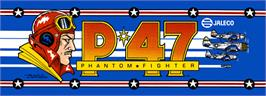 Arcade Cabinet Marquee for P-47 - The Phantom Fighter.