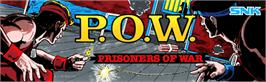 Arcade Cabinet Marquee for P.O.W. - Prisoners of War.