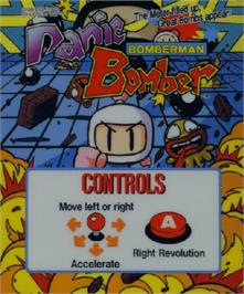 Arcade Cabinet Marquee for Panic Bomber.