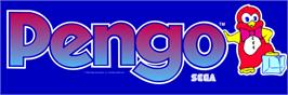 Arcade Cabinet Marquee for Pengo.