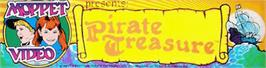 Arcade Cabinet Marquee for Pirate Treasure.