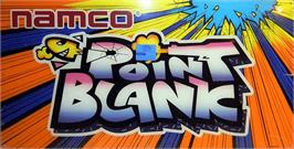 Arcade Cabinet Marquee for Point Blank.