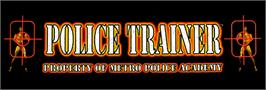 Arcade Cabinet Marquee for Police Trainer.