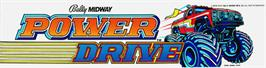 Arcade Cabinet Marquee for Power Drive.