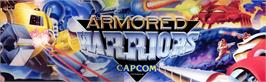 Arcade Cabinet Marquee for Powered Gear: Strategic Variant Armor Equipment.