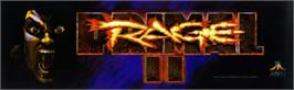 Arcade Cabinet Marquee for Primal Rage 2.
