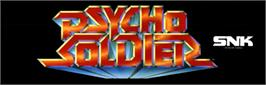 Arcade Cabinet Marquee for Psycho Soldier.