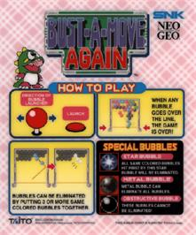 Arcade Cabinet Marquee for Puzzle Bobble 2 / Bust-A-Move Again.