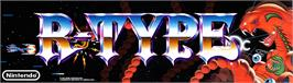 Arcade Cabinet Marquee for R-Type.