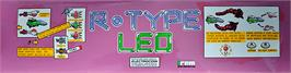 Arcade Cabinet Marquee for R-Type Leo.
