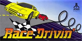 Arcade Cabinet Marquee for Race Drivin'.